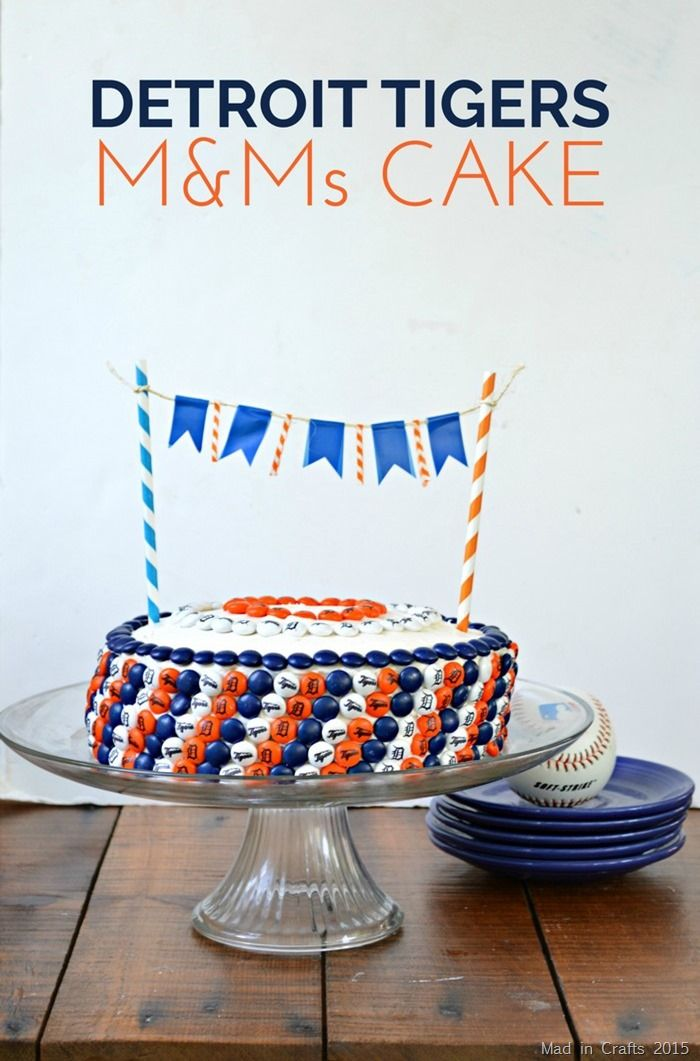 Detroit Tigers M&Ms Cake #ad #MYMMs