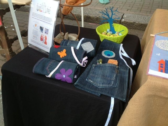 our aprons in recycled jeans