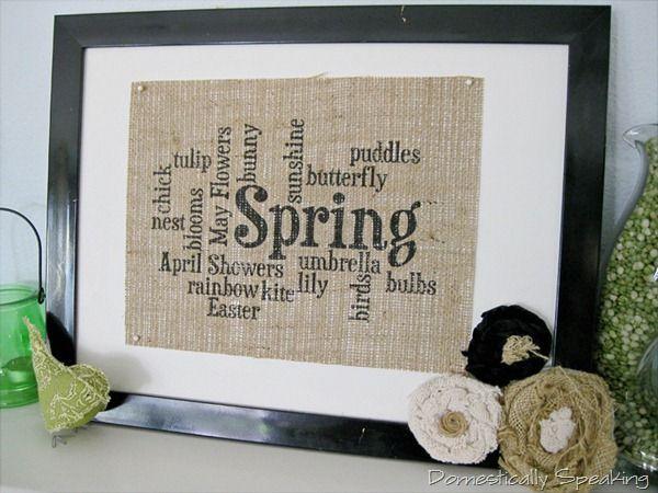 Spring Burlap Sign
