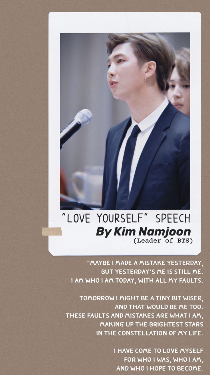 UN SPEECH LOVE YOURSELF SPEAK YOURSELF SPEECH | Instagram ...