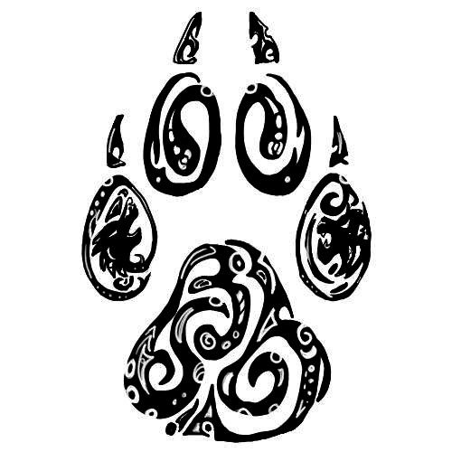 Tribal Wolf Paw Print Drawings | Celtic Wolf Paw Twilightbeast paw by silent-