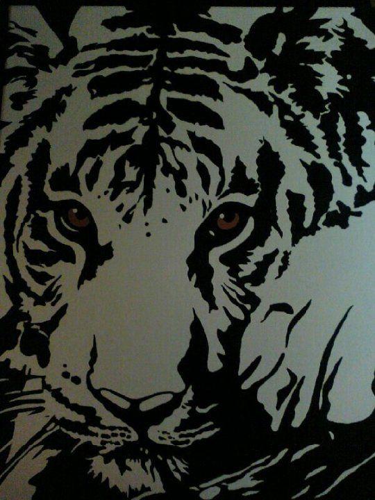 Картинки из символов с тиграми