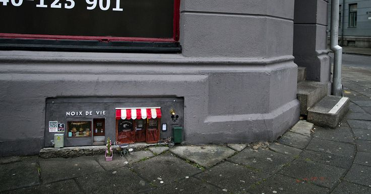 Anonymouse was fed up with the lack of shops for rodents, so they decided to open a couple of them at once. The 70x30 cm (about 25x12 inch) stores are located in Malmö, Sweden and they have wide menus that mice can choose their meals from.
