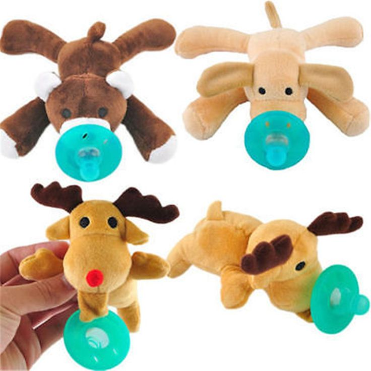 Cute Hot sale New 1Pc Infant Baby Boy Girl Silicone Pacifiers Cuddly Plush Animal Baby Nipples Cute