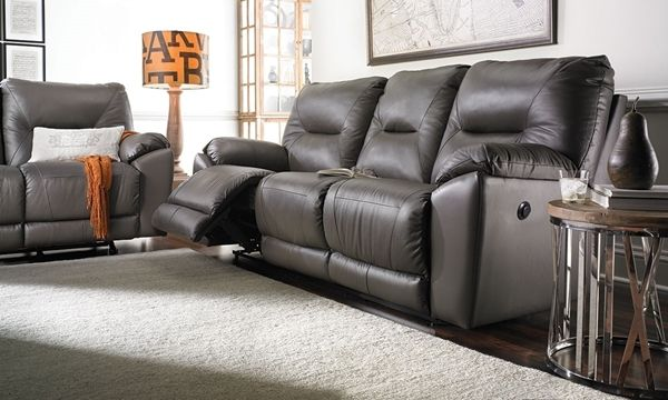 Southern Motion 94 Inch Leather Power Reclining Sofa With