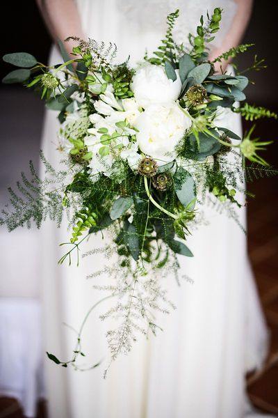 White And Green Wedding Bouquet