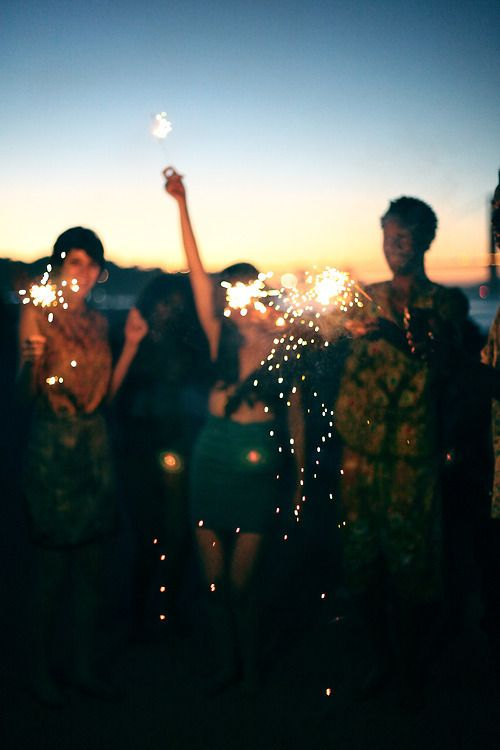 I got this feeling on a summer day when you were gone... I LOVE IT!!! cutest sunset, sparkler picture! just looks like fun