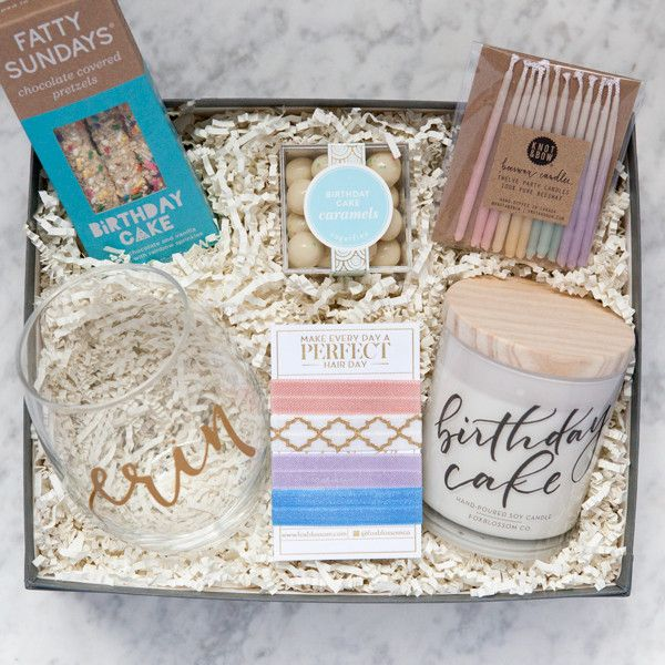 Make it a very special birthday for someone you love! With our perfect mixture of birthday goodies, this gift box is sure to make their day! Comes wrapped in our signature gray linen, gold foil-stampe