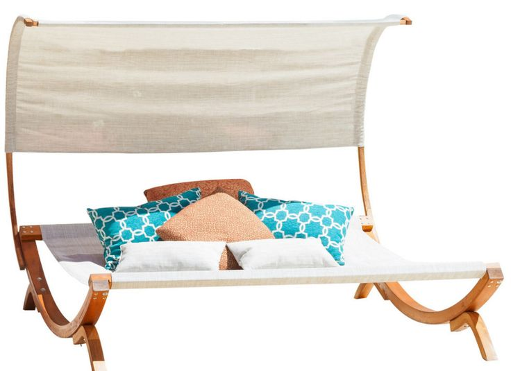 Rosalie Outdoor Lounge Daybed With Canopy - $276 HOUZZ  https://www.houzz.com/photos/16729192/Rosalie-Outdoor-Lounge-Daybed-With-Canopy-contemporary-outdoor-chaise-lounges