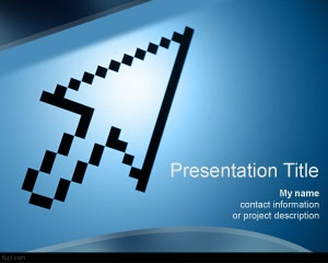 Direction PowerPoint Template is a free PPT template with digital arrow that can be used for technology presentations but also for serious and professional business PowerPoint presentations