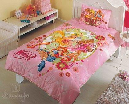 Купить покрывало стеганое детское WINX FAIRY розовое 180х240Н от производителя Tac (Турция)