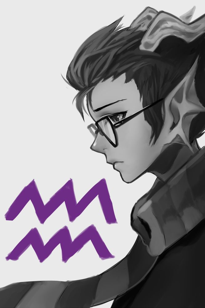 Homestuck - Eridan. I like this version so much. Some people make him look so weird and ugly. I think he's supposed to look like this