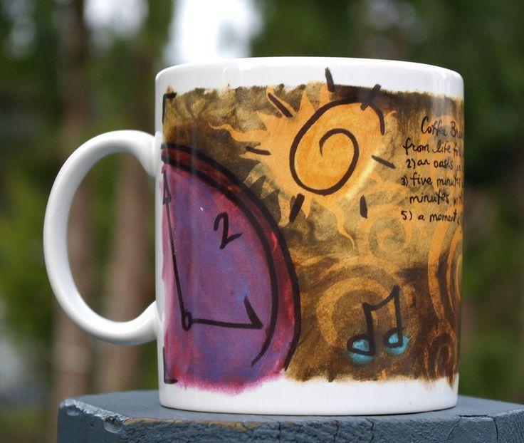 "Starbucks Company 1998 ""Coffee Break Essentials Mug"" Definition Oasis Friend  | eBay"