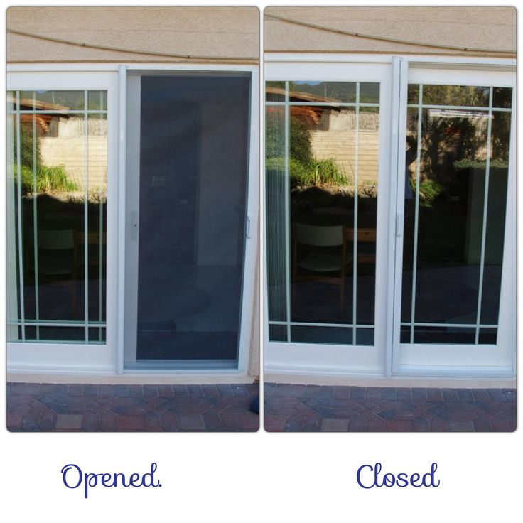 Sliding glass door screens retractable screens sliding for Retractable double garage door screen