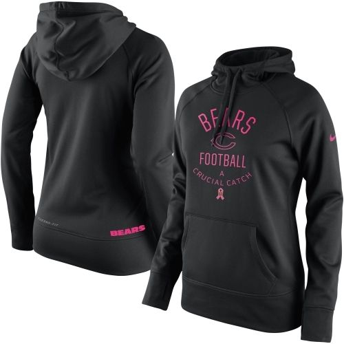 Chicago Bears Nike Women's Breast Cancer Awareness Hoodie - Black ...
