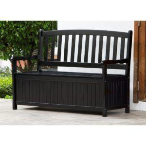 Outdoor Storage Bench Black