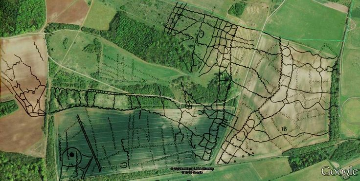 Perham Down Trench overlayed Aerial (Tony Hoare)