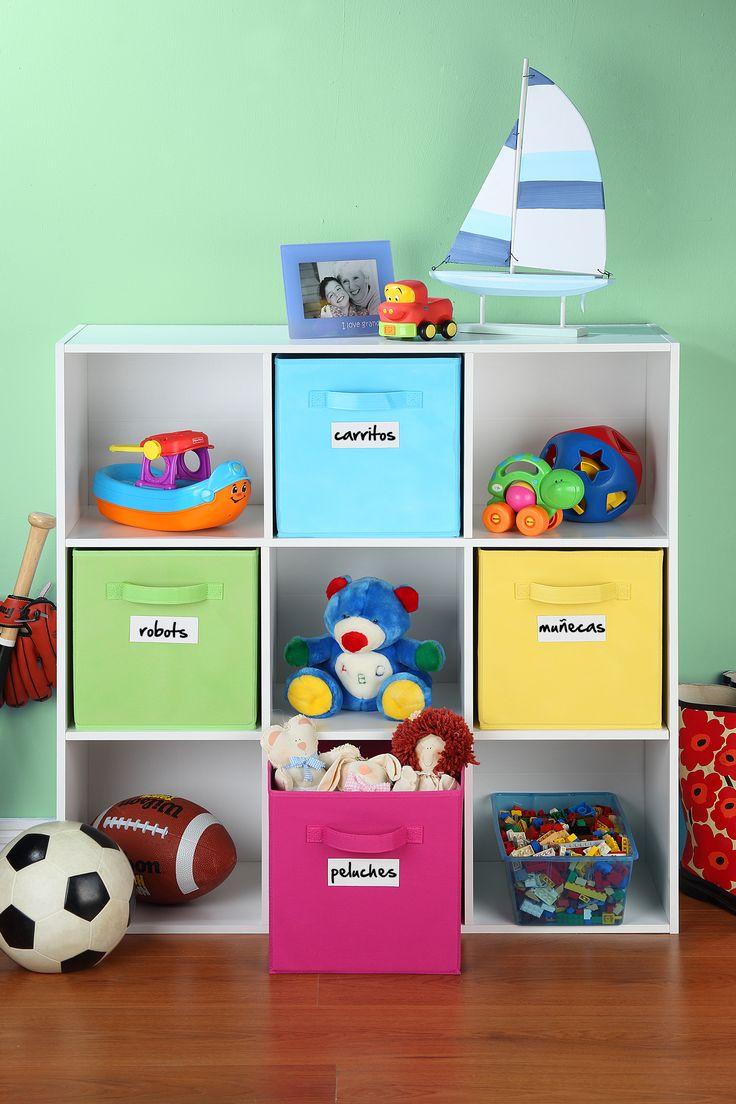 Organizador mel mina 9 cubos blanco decora tu hogar for Mueble guarda juguetes
