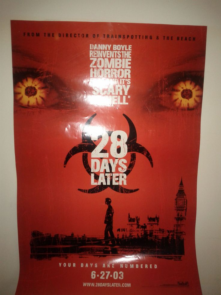 28 Days Later Poster $63.00 (Plus Shipping and Handling)