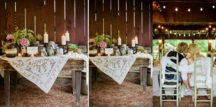 deco-mariage-champetre-table-bois-rustique-paille-bougies-roses-plantes-vertes