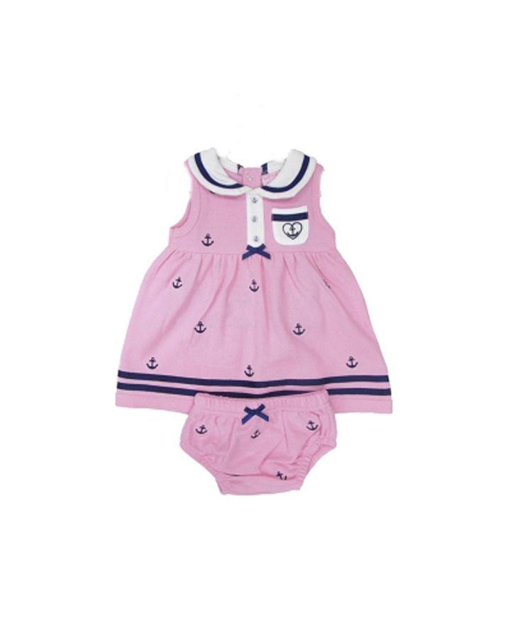 Φόρεμα και βρακάκι bebe πικέ ροζ | Poulain.gr