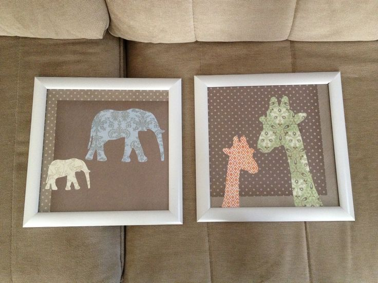 Scrapbook paper pictures for baby's room