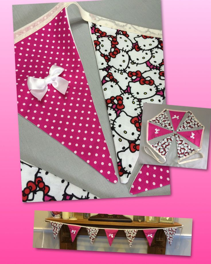 A personal favourite from my Etsy shop https://www.etsy.com/uk/listing/451258190/hello-kitty-bunting-cat-lovers-gift