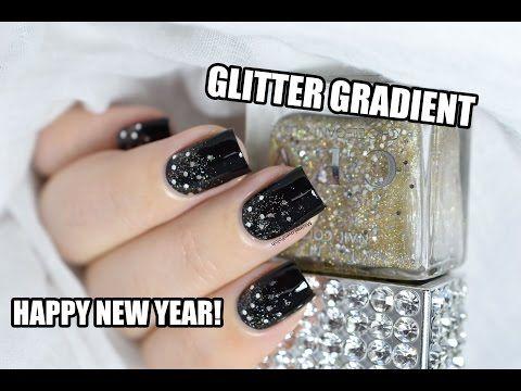 How To: Glitter Gradient (My New Year's Eve nail art!) || Marine Loves Polish - YouTube