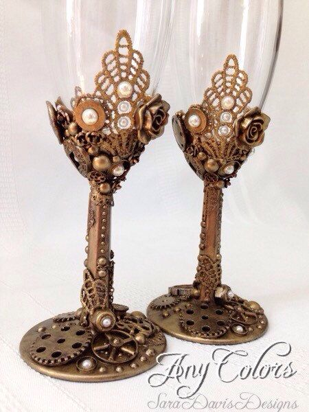 Hey, I found this really awesome Etsy listing at https://www.etsy.com/listing/236746311/steampunk-toasting-flutes-steampunk