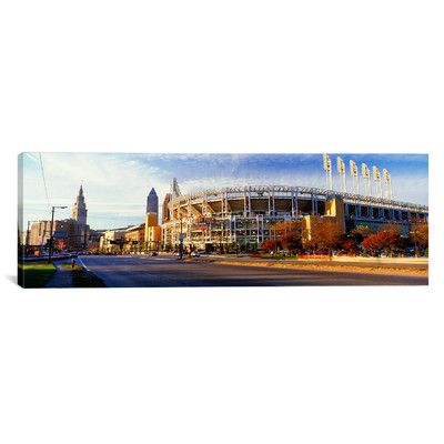 """East Urban Home Panoramic Jacobs Field, Cleveland, Ohio Photographic Print on Canvas Size: 12"""" H x 36"""" W x 0.75"""" D"""