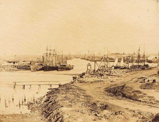 The Yarra river #melbourne below the Falls, 1858 #heritage. photographers Antoine Fauchery and Richard Daintree