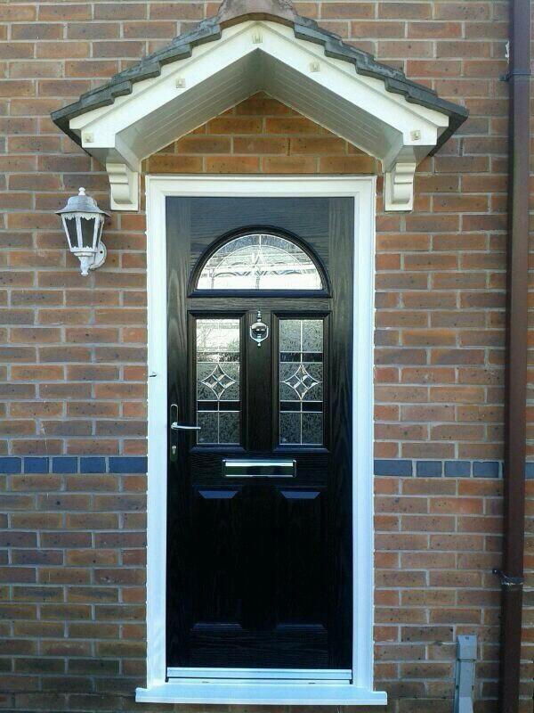 Domestic door installed in blue,