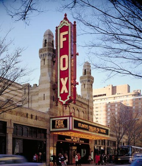 The Fabulous Fox Theatre, located on Peachtree Street in Atlanta, Georgia