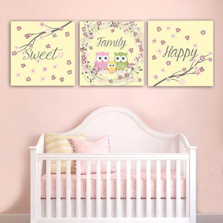 Παιδικοί πίνακες σε καμβά Happy sweet family