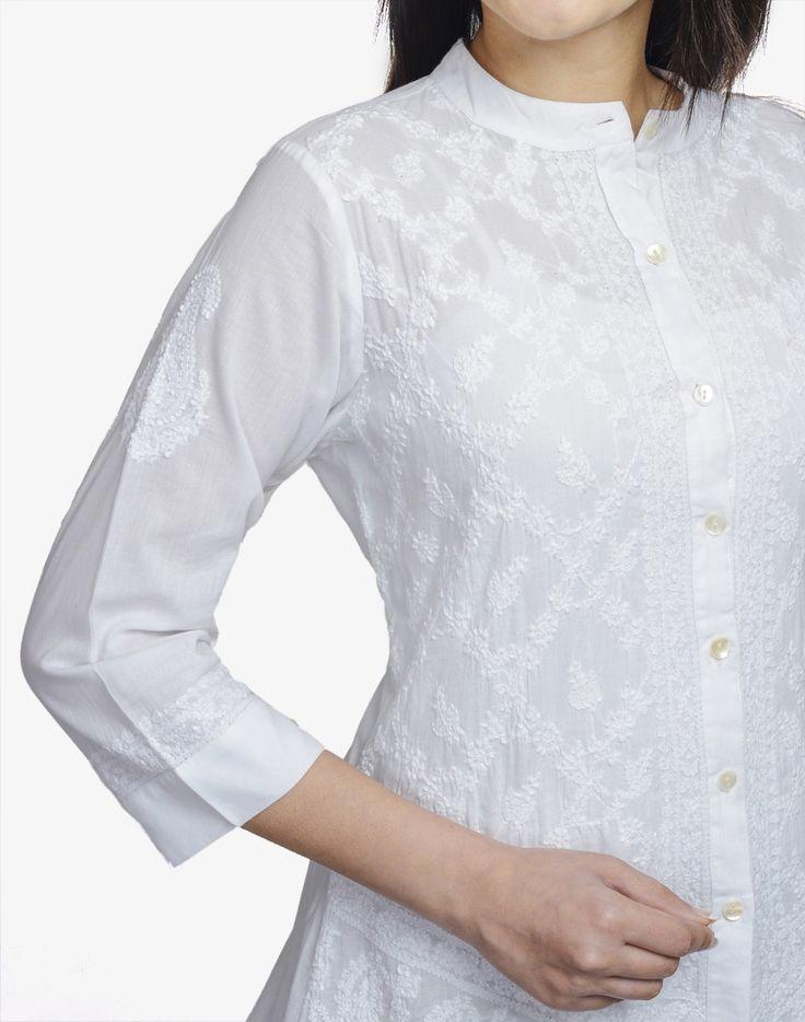 Fabindia.com | Cotton All Over Chikankari Shirt
