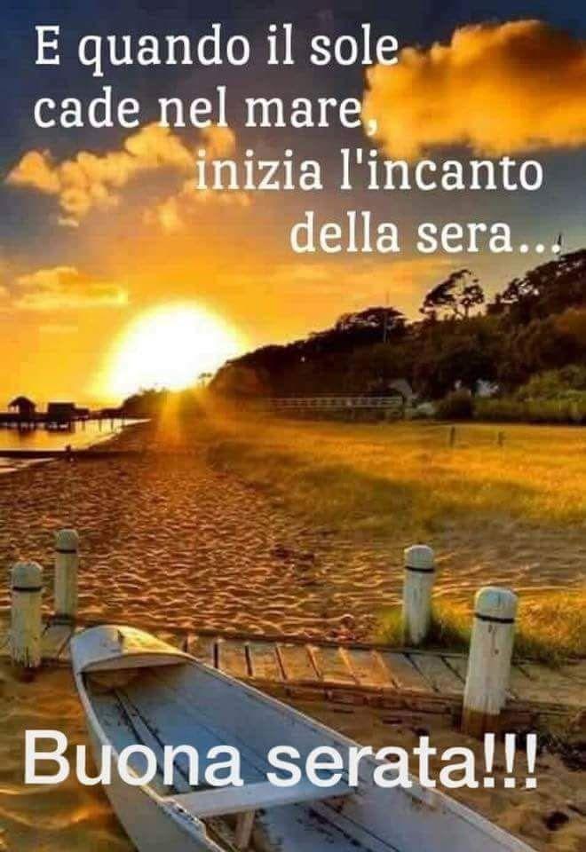 Saraseragmail.com... E quando il sole cade nel mare..inizia l'incanto della sera. ❤Buona Serata a tutti!❤