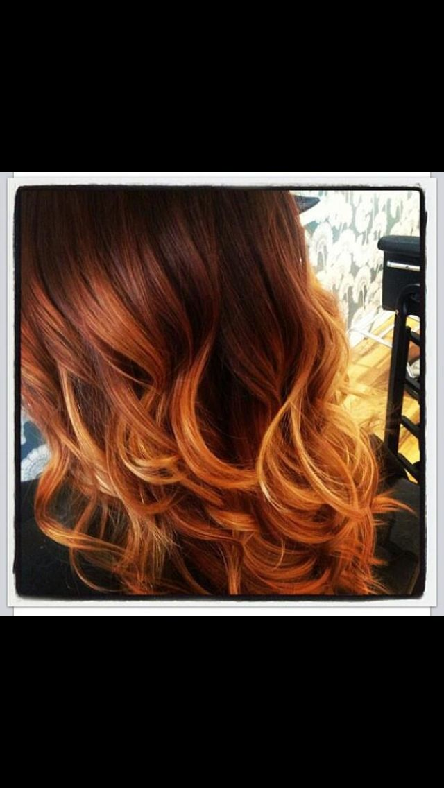 Dark balayage with copper