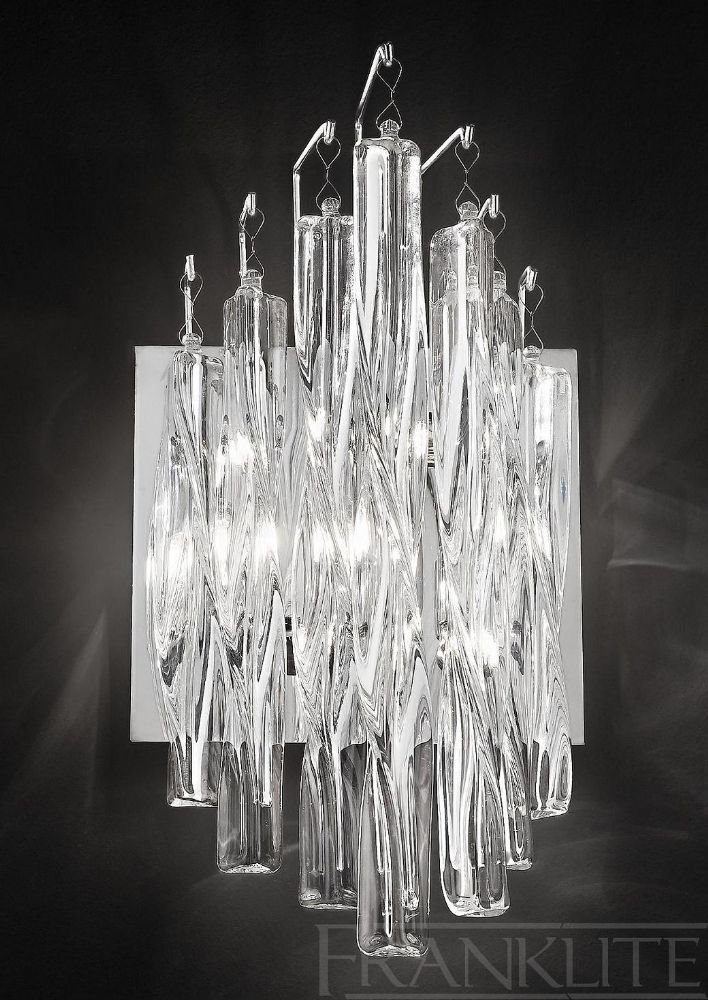 Franklite Lightings Glacial range is available from Luxury Lighting. Stylish, contemporary glass and chrome wall and ceiling lights. Modern indoor lighting for your home.