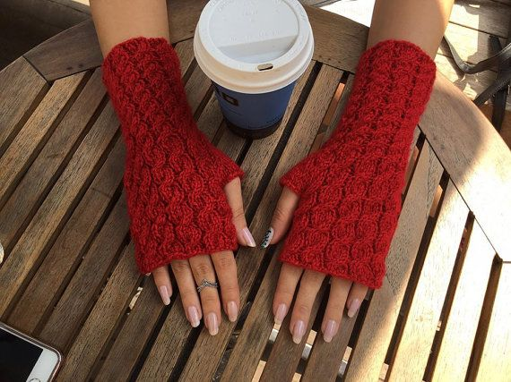 Fingerless Gloves Knit Fingerless gloves Arm warmers Womens