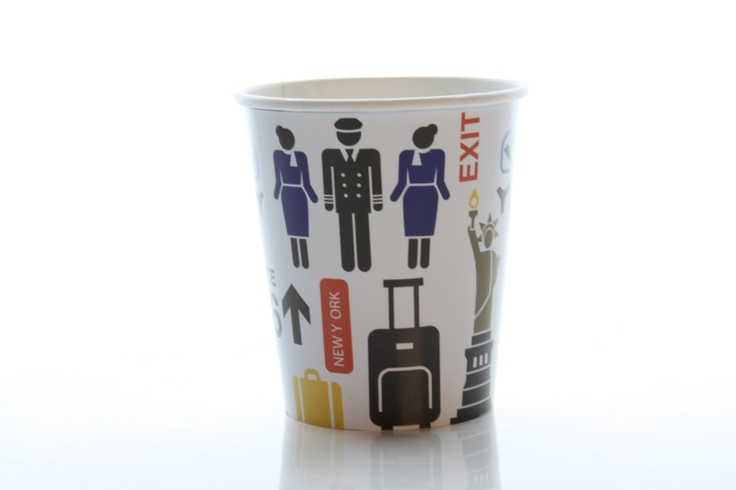 We have a winner!  Frida Axell's deisgn Go To Gate was voted the most popular design for our new coffee-cups. You'll be able to drink free coffee or tea at 30.000 feet from it in June!