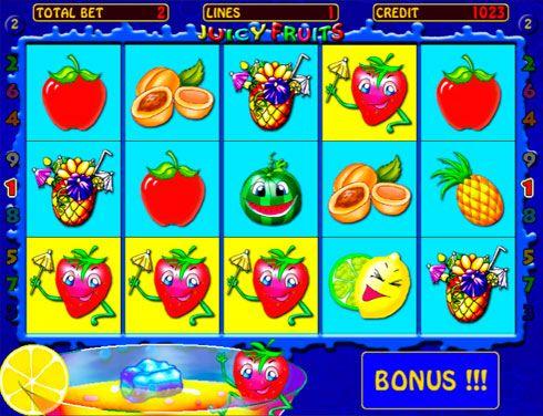 Игровой автомат Juicy Fruits — играть в казино Вулкан на деньги.  Juicy Fruits — веселый игровой автомат на фруктовую тематику, в который вы можете выгодно играть на реальные деньги. В казино Вулкан этот аппарат широко популярен среди игроков, ведь его забавные и красочн