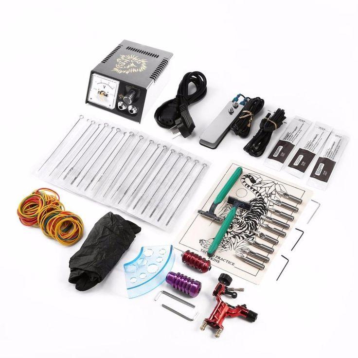 Complete Equipment One Tattoo Machine Professional Tattoo Machine Set Power Supply Tattoo Needles Body Makeup Beginner Kit New