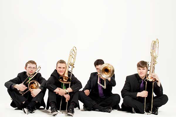 Trombone Attraction (Foto © Julia Wesely) - Vier Posaunen im Cross-over auf der #klangBilder|16