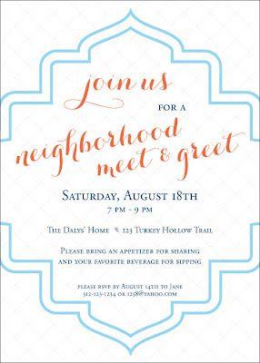 block party invitation