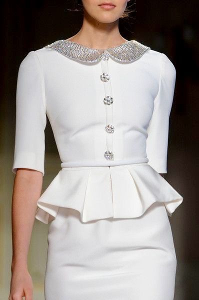 Georges Hobeika...Wow, beautiful details. Adjust these details to fit your wedding theme.