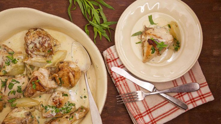 Jacques Pepin's Chicken with Cream Sauce-  A few changes and this would be a nice buffet item.
