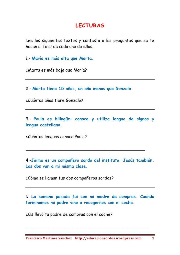 Textos cortos de lectura inferencial by Teresa López via slideshare