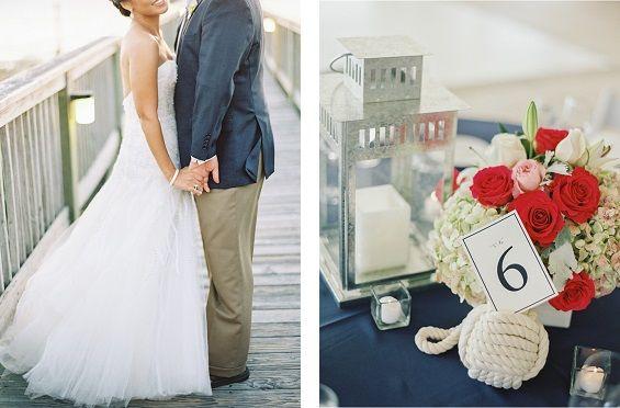 LOVE these colors for a nautical wedding. Photos by Vicki Grafton Photography via Grey Likes Weddings