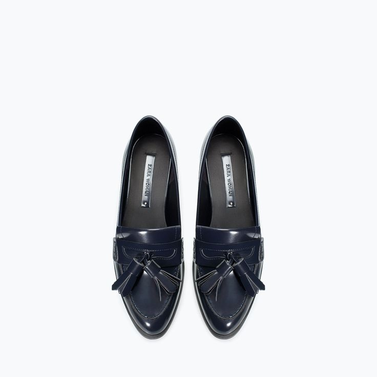 Tasselled moccasin at Zara