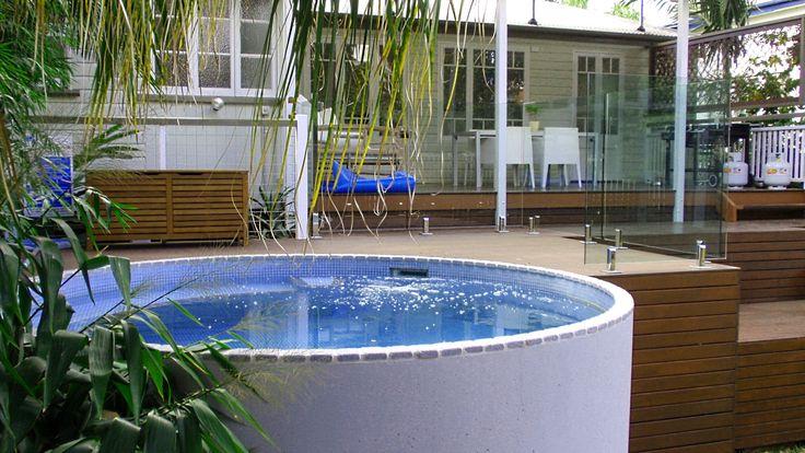 Above ground installation. Australian Plunge Pool